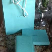 Tiffany & Company Blue Patent Leather Passport Case Cover Box and Bag Photo