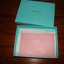 Tiffany & Company Light Pink Leather Credit Card Wallet  New in Box  Photo