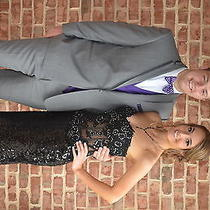 Tiffany Designs Black Prom Dress Size 6 Photo