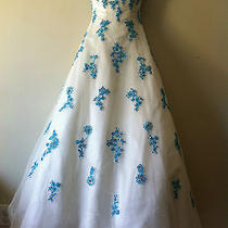 Tiffany Designs Prom Dress White Size 4 Photo