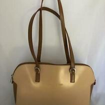 Tiffany & Fred Paris Beige Tan Leather Shoulder Bag Handbag Purse Photo