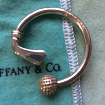 Tiffany Golf Club and Ball Key Chain Sterling Silver Excellent Condition Photo
