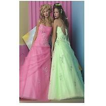 Tiffany Pageant / Prom Dress Size 14 Green Photo