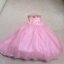 Tiffany Pink & Gold Prom Dress Photo