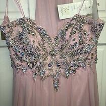 Tiffany Prom Rosella Size 14 Baby Pink Long Dress Strapless Bnwt  Photo