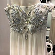 Tiffany Prom Rosella Size 6 Ivory White Long Dress Strapless Beaded Bodice Bnwt  Photo