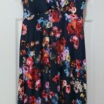 Tiffany Rose Maternity Alessandra Blue Floral Dress Size 4 (Us Size 10-12) Photo