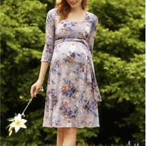 Tiffany Rose Maternity Breastfeeding Nursing Dress Vintage Bloom Size 4 14-16 Z Photo