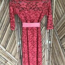 Tiffany Rose Maternity Dress Coral Lace Size 0 (Uk 6/8) Photo