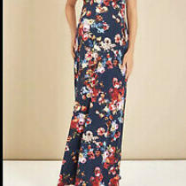 Tiffany Rose Maxi Floral Maternity Pregnancy Dress Alana Midnight Garden 4 14-16 Photo