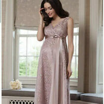 Tiffany Rose Thea Maternity Pregnancy Gown Blush Dusky Pink 4 14-16 Photo
