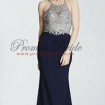 Tiffanys Madison Long Prom Dress Open Back With Beads on It Size 4 Bnwt Photo