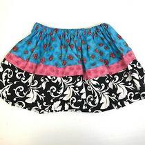 Tiffany's Tea Party Girl's Twirl Skirt Sz 3 - 4 Blue Pink Black Gathered Skirt  Photo