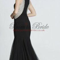 Tiffanys Teagan Black Long Evening Fishtail Prom Dress Size 8 Bnwt Photo
