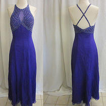 Tiffany Silk Beaded Beautiful Purple Gown Dress Size M / 8 Prom Pageant Wedding Photo