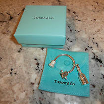 Tiffany Sterling Silver 925 Champagne Bottle Cork Keychain Photo