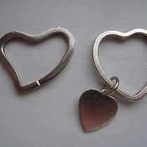 Tiffany Sterling Silver Heart Key Chains (Set of Two) Photo