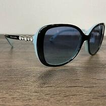 Tiffany Tf4121b 80559s Black Blue Women's Rectangle Sunglasses 55 Mm Photo