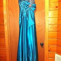 Tiffany Turqoise Prom Dress Size 2 Exquisite Photo