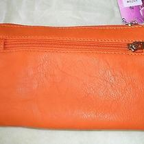 Tiffany Young Handbag Small Bright Orange Clutch 8