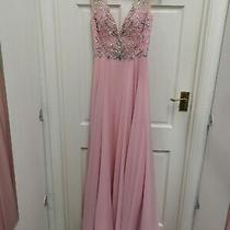 Tiffanys Mackenzie Evening Dress Prom Dress Blush Pink Size 8 Bnwt Photo