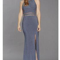 Tiffanys Rita Grey Halter Neck Long Evening Dress Prom Size 6 Bnwt Photo