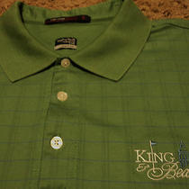 Tiger Woods Collection Nike King & Bear Golf Course Club Polo Shirt Xl  Photo