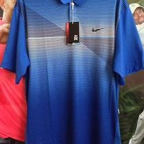 Tiger Woods  Nike Shirt (Tw Bold Stripe Polo )size L Photo