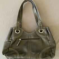 Tignanello Black Leather Hobo Purse Handbag Shoulder Bag Pocket Book Photo