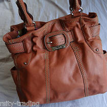 Tignanello Hobo Bucket Tote Orange Leather Shoulder Shopper 10 Hobo Suture Nice Photo