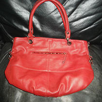 Tignanello Red Leather Handbag Very Nice  Photo