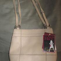 Tignanello Rings and Things Large Shopper Creme Brulee Leather Nwt 139 Classic Photo