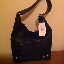 Tignanello 'Rock City' Hobo Handbag - Nwt - Black  Photo