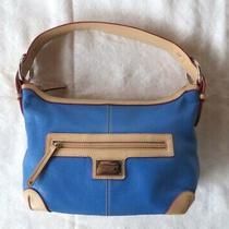 Tignanello Royal Blue Leather Hobo Shoulder Bag Purse  Photo