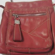 Tignanello Soft Red/brown Leather Shoulder Cross Body Purse 23
