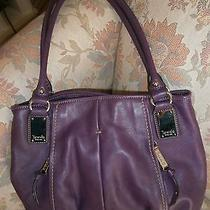 Tignanello Violet/purple Leather Hobo Handbag Photo