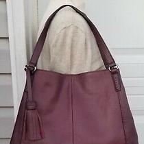 Tignenallo Plum Leather Tassel Hobo Shoulder Bag Purse  Photo