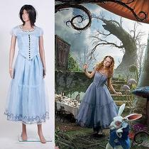 Tim Burton's Alice in Wonderland Alice Blue Dress Costume  Custom Made Photo