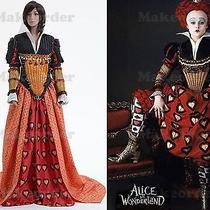 Tim Burton's Alice in Wonderland Red Queen Dress Costume Custom Made Photo