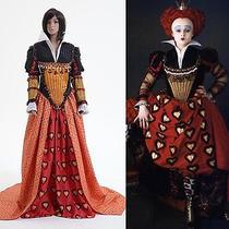 Tim Burton's Alice in Wonderland Red Queen Dress Costume Custom Made Photo