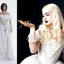 Tim Burton's Alice in Wonderland White Queen Dress Costume Custom Made Photo