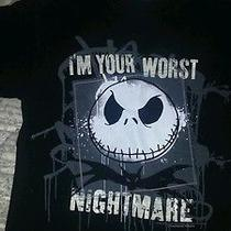 Tim Burton's Disney the Nightmare Before Christmas Jack Skellington Shirt Small Photo