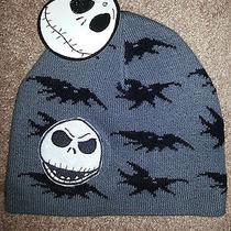 Tim Burton's Nightmare Before Christmas Jack Bat Skull Cap Beanie Hat  New Nwt Photo