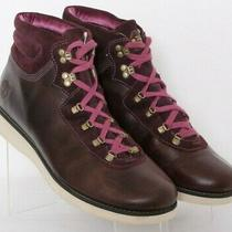 Timberland 17679w Burgundy Leather Lace-Up Casual Ankle Boots Women's Us 11  Photo