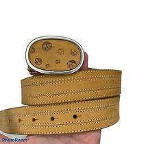 Timberland 3117-700 Mens Nubuck Wheat Leather Belt With Buckle Mens Size Large Photo