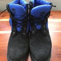 Timberland 6 650 Goose Down Boots Size 9 Black Suede Nubuck Blue Puffer Photo