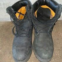 Timberland 6 Inch Premium Leather Boots Black Size 9 Us Men Pre-Owned Photo