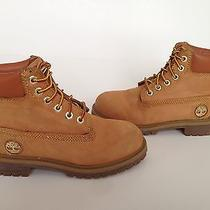 Timberland 6-Inch Premium Wheat Gold Nubuck Leather Boots Size 13m Youth Rare Photo