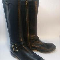Timberland (8549r) Women Savin Hill Black Leather Tall Riding Style Boots Size 8 Photo
