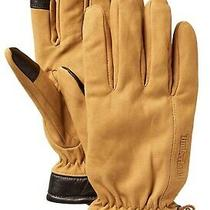 Timberland Authentic Large Men's Leather Touchscreen Gloves Brown & Wheat New  Photo